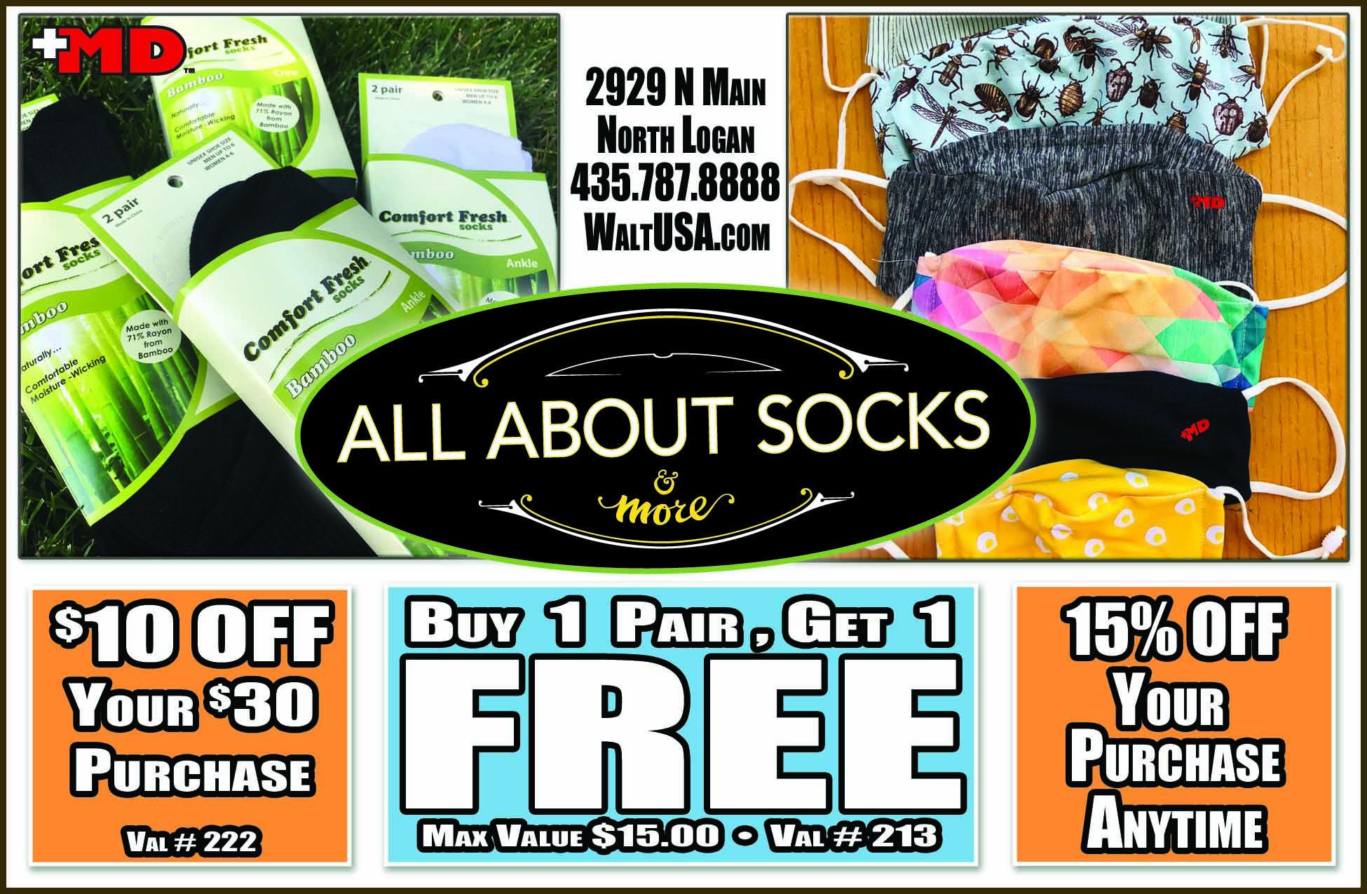 All About Socks Logan Utah