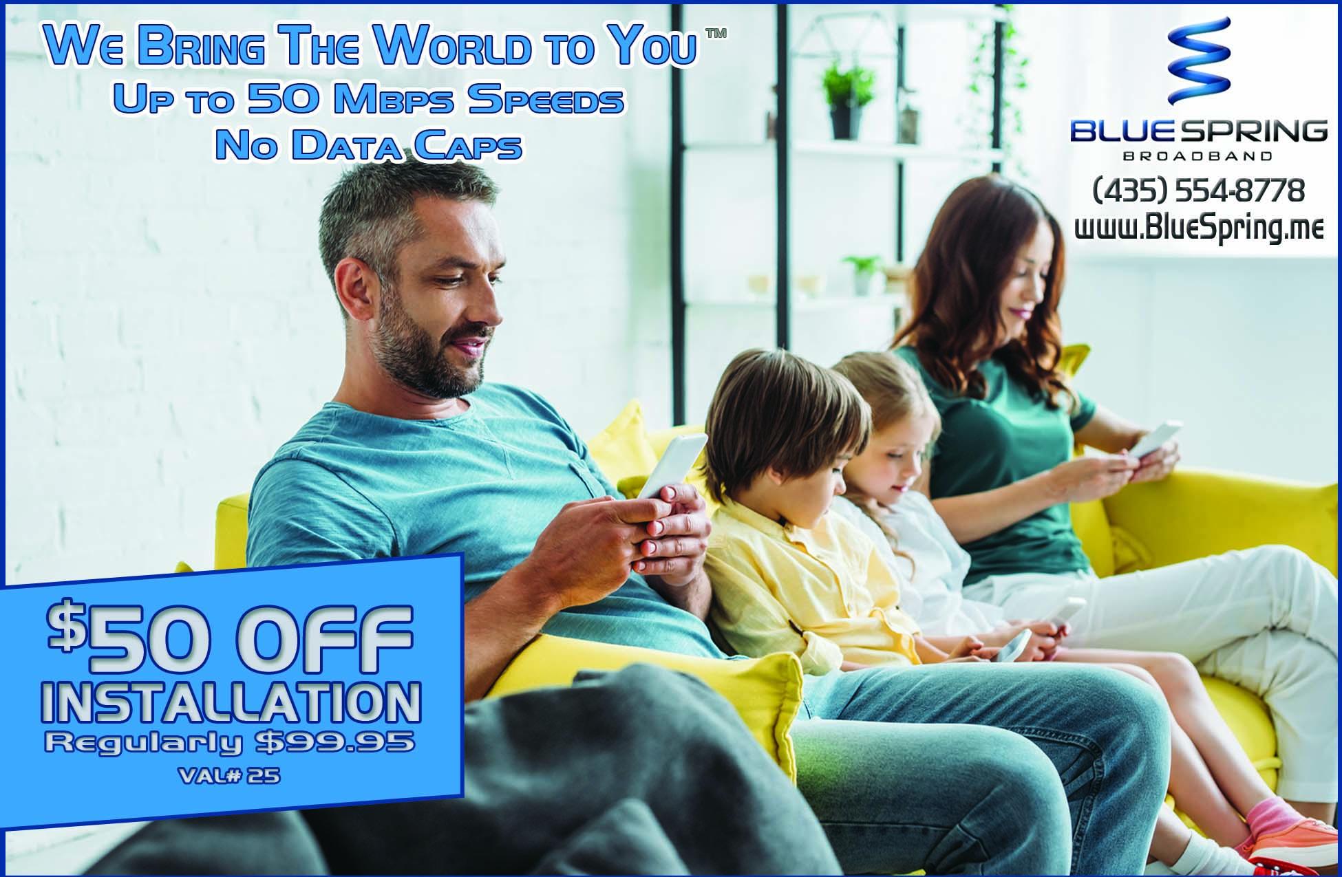 BlueSpring Internet Service Logan Utah