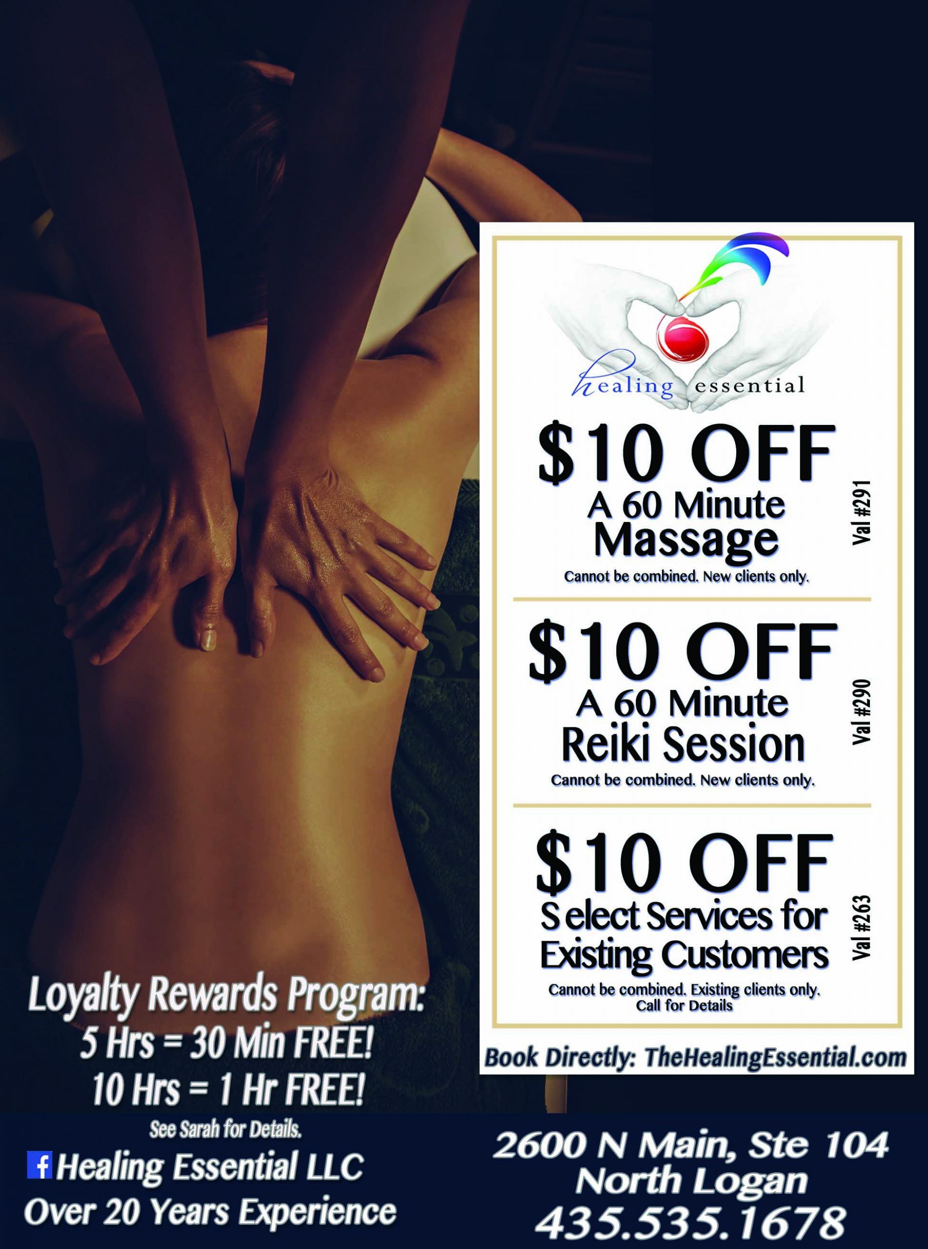 Healing Essential Massage Reiki Healing Logan Utah