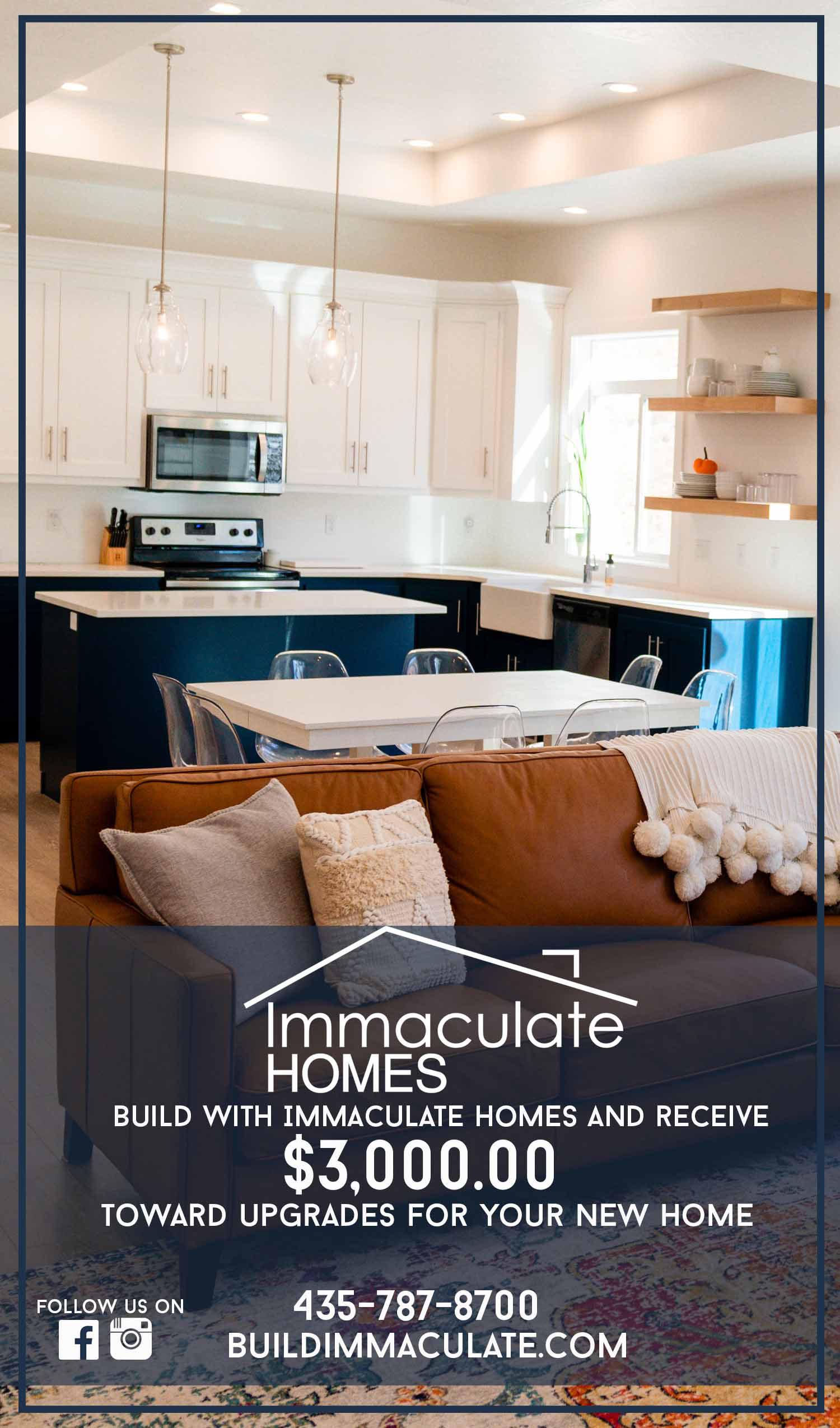 Immaculate Homes New Homes Logan Utah