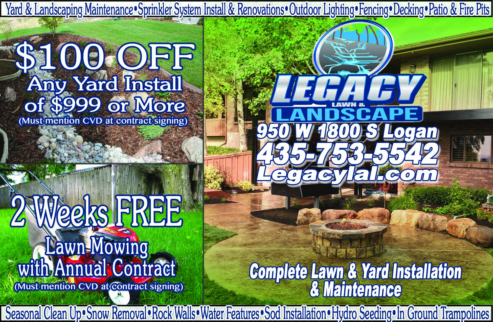 Legacy Landscape Landscaping Logan Utah