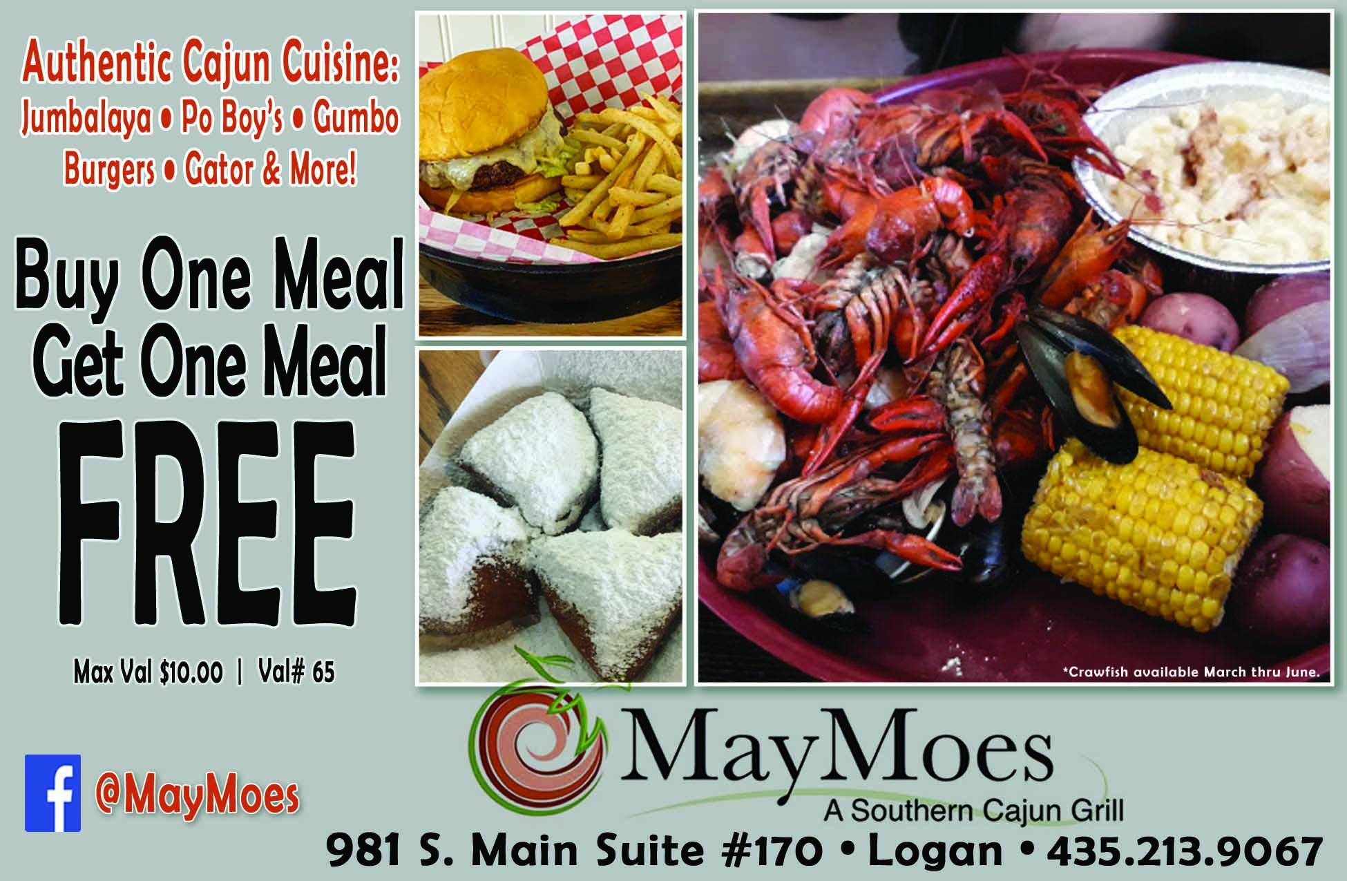 Maymoes Cajun Grill Logan Utah