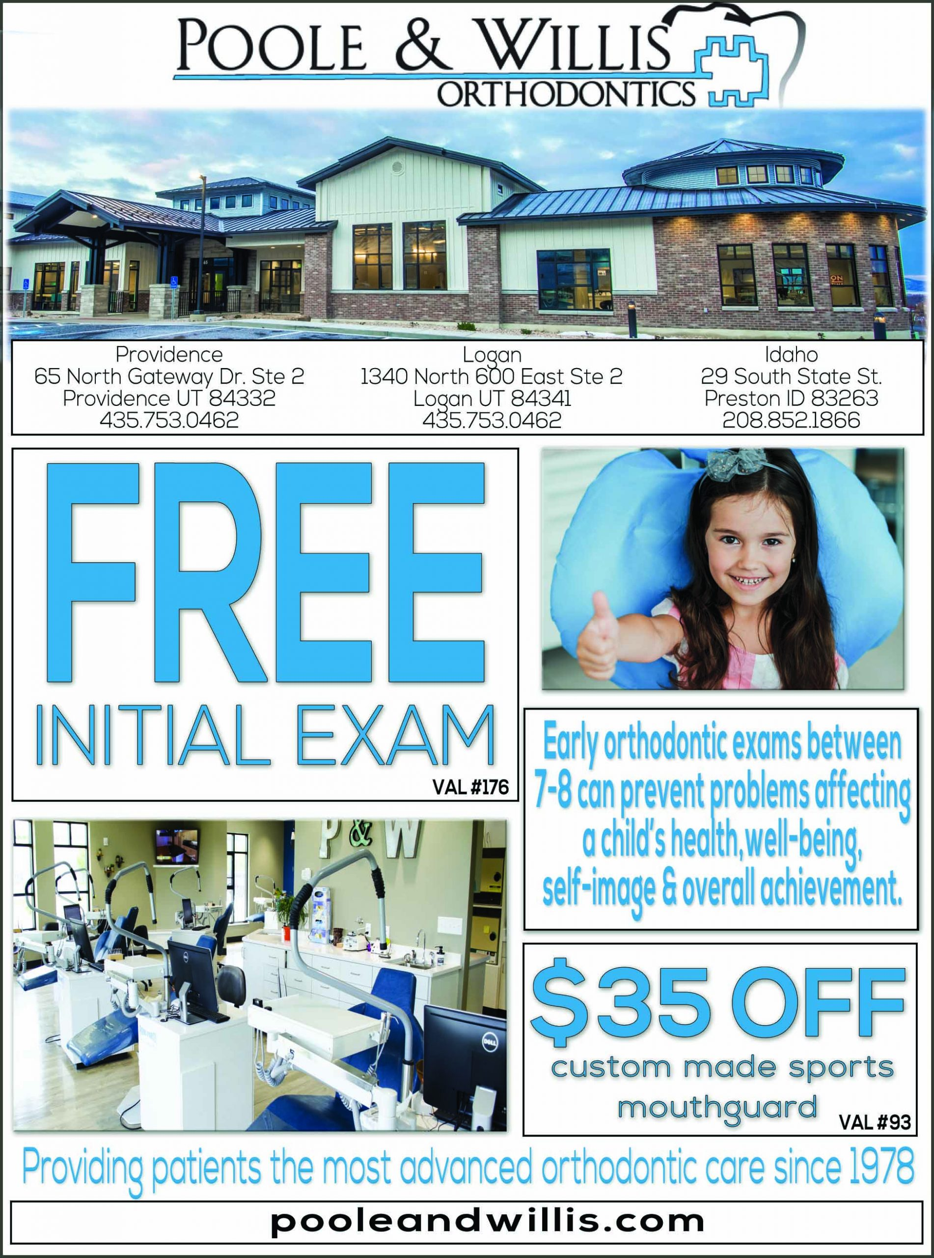 Poole & Willis Orthodontist Logan Utah
