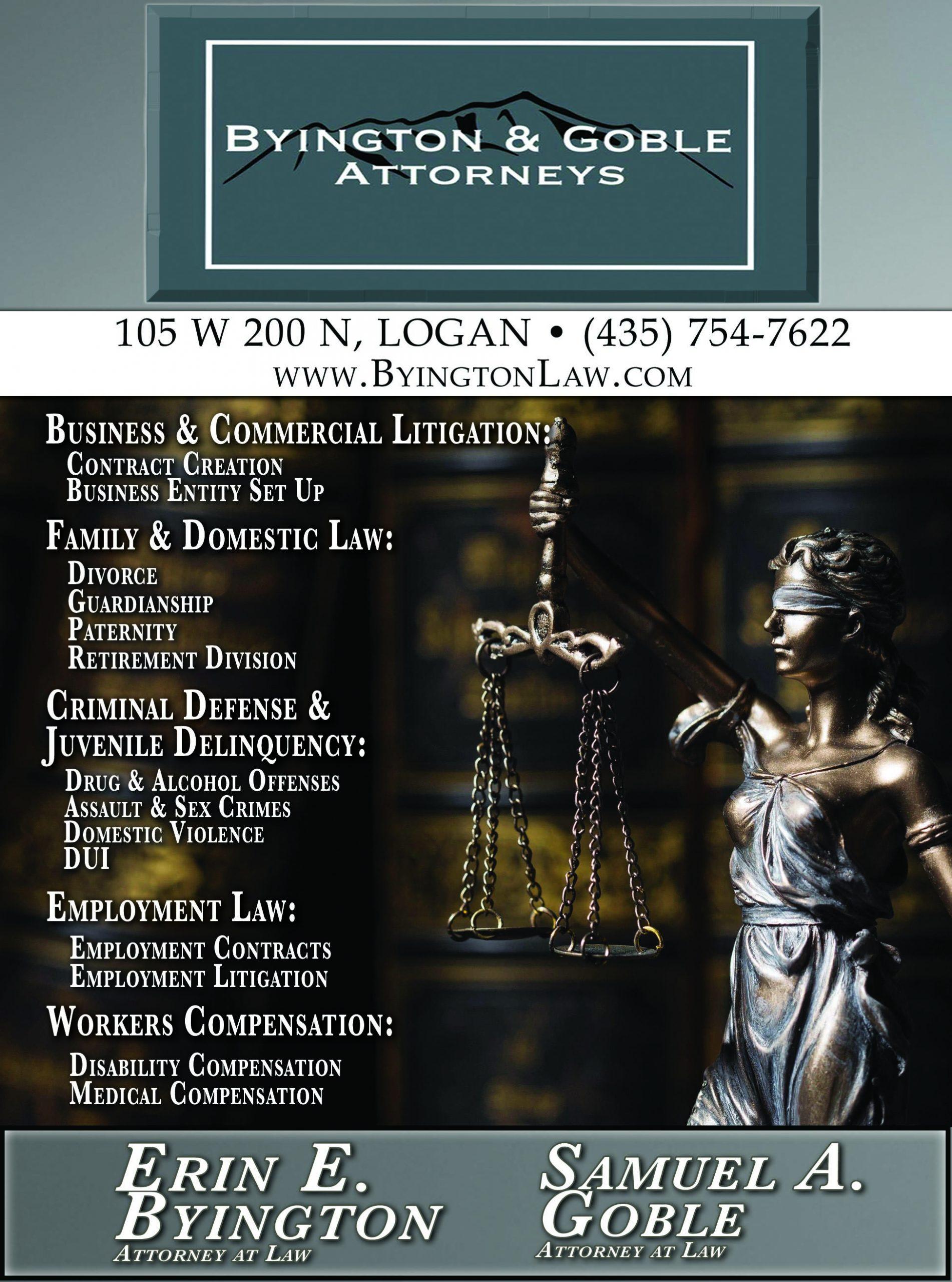 Byington & Goble Attorney Logan Utah