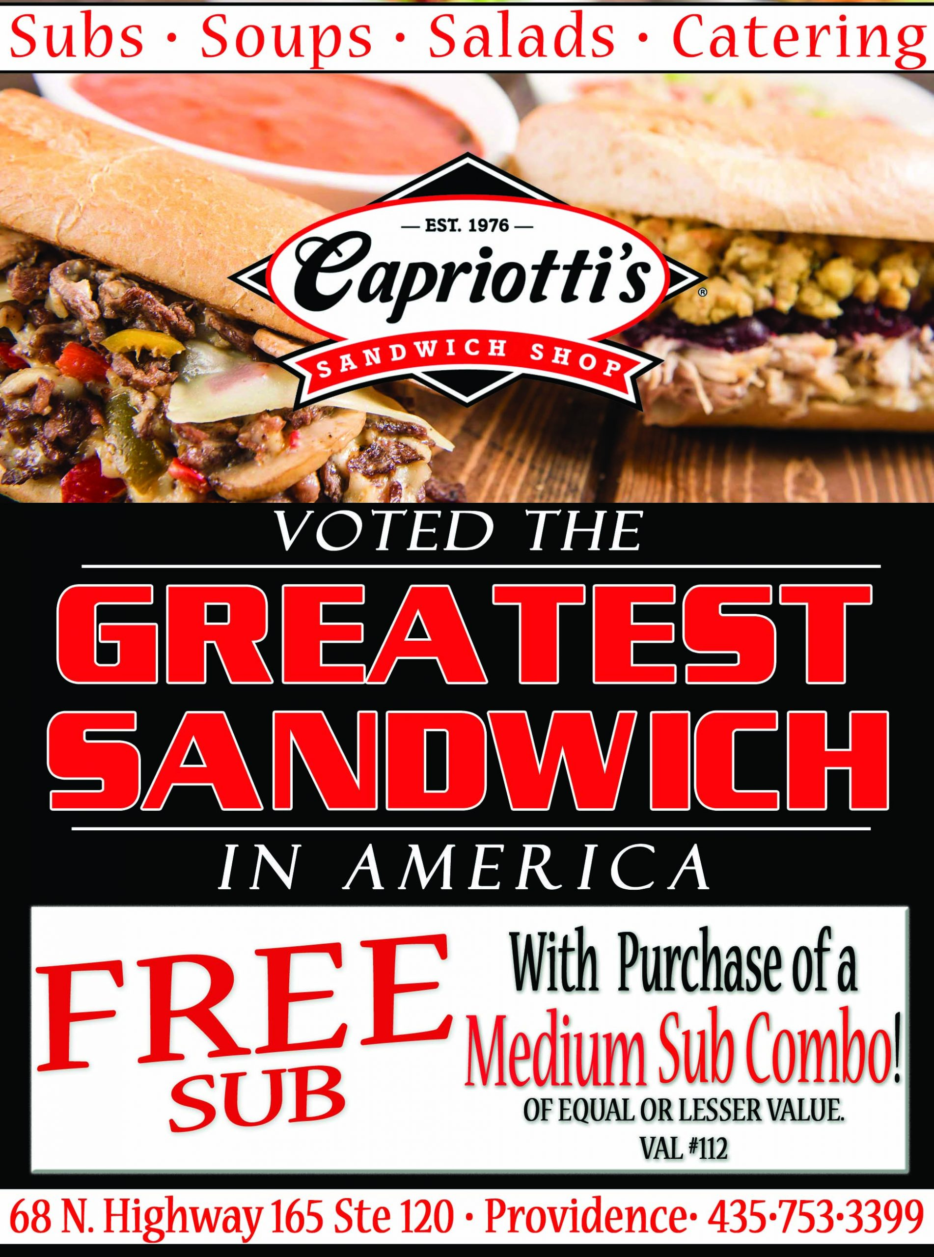 Capriotti's Sandwiches Providence