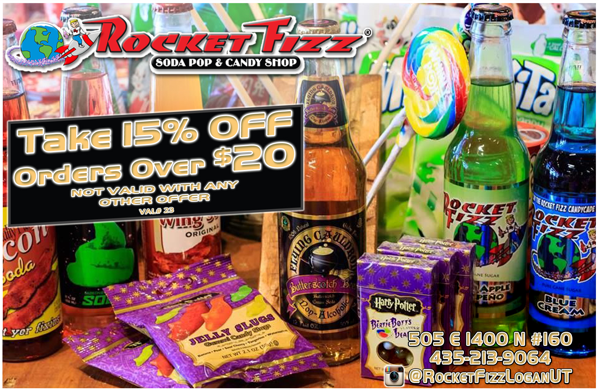 Rocket Fizz Soda Pop & Candy Shop Logan Utah